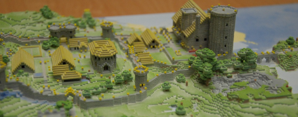 Minecraft Village Made Real With 3d Printer Pc Gamer