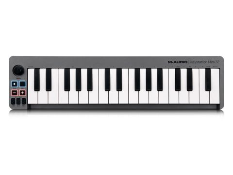 The Keystation Mini 32 packs two and a half octaves into its slight frame.