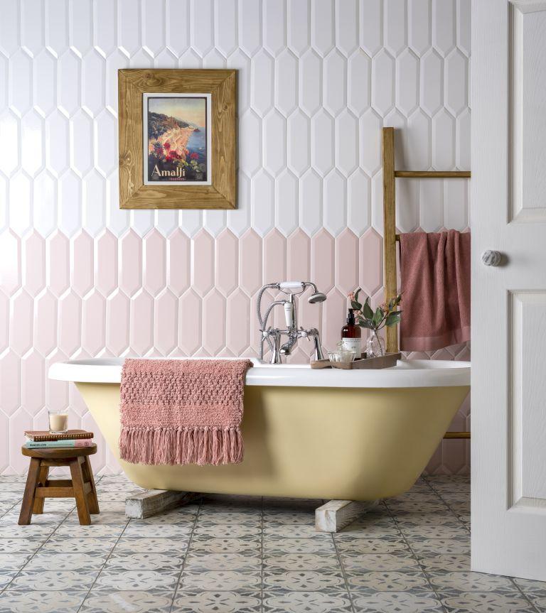Pink bathroom tile ideas