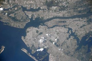 New York City from ISS