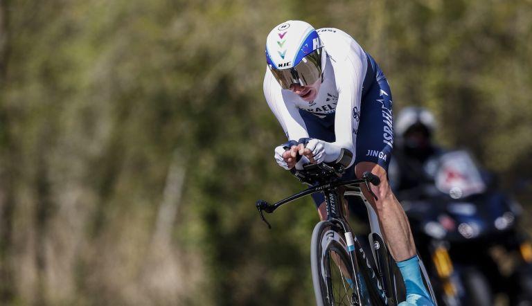 Chris Froome racing the 2021 Volta a Catalunya