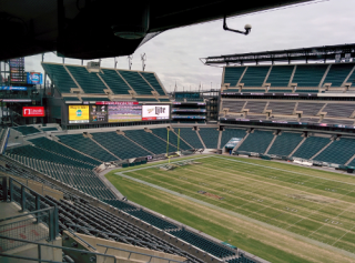 Spyder's Content Delivery System at NFL Football Field
