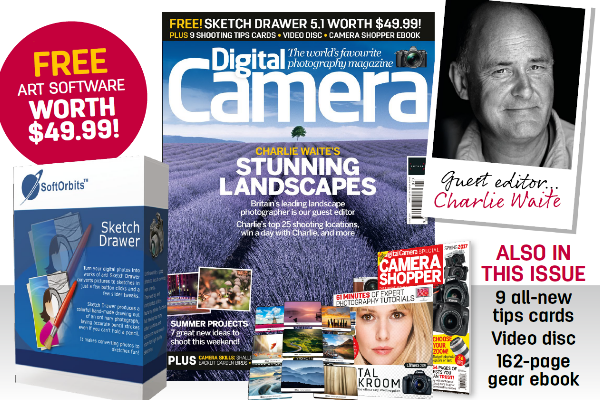 Charlie Waite guest edits new issue of Digital Camera magazine - on sale now