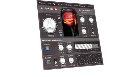 The large dampening knob controls a dynamic peak band EQ - the main refinement tool