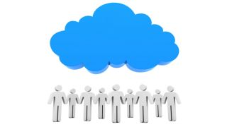 People under cloud
