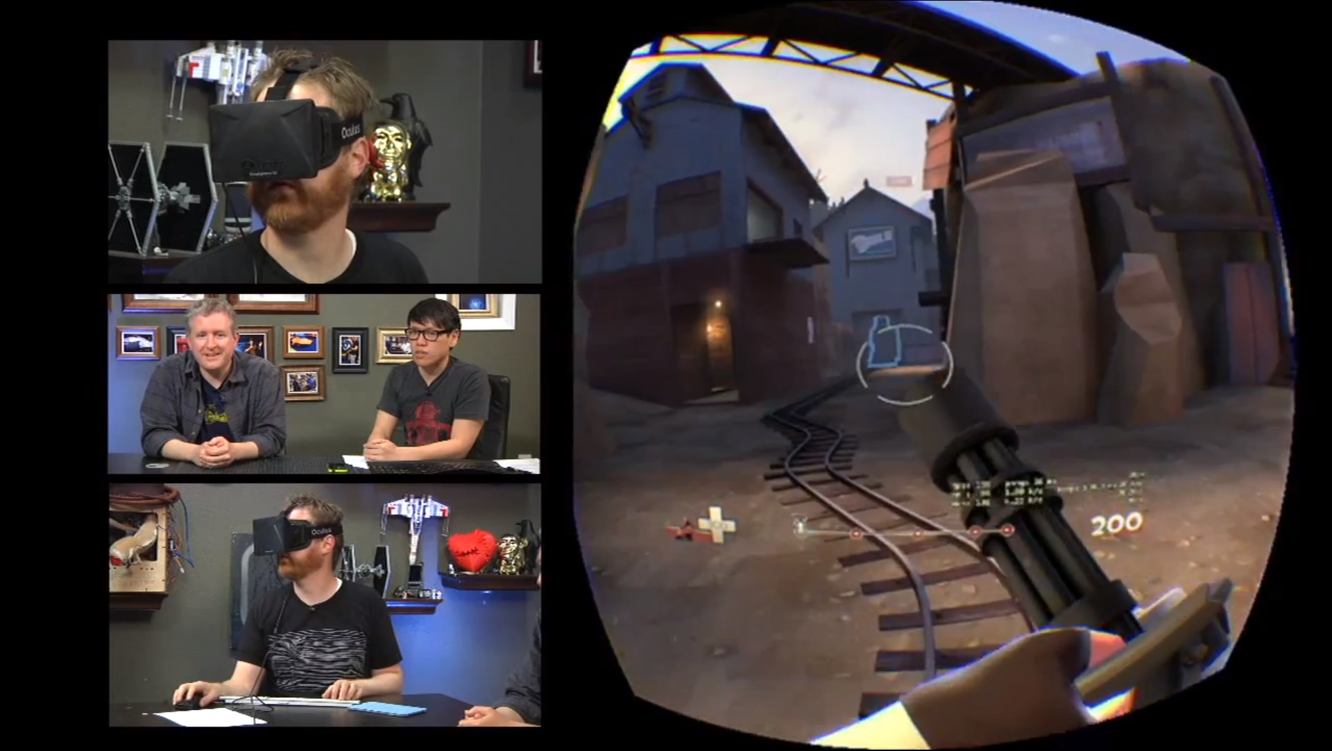 See what Team Fortress 2 looks like using the Oculus Rift