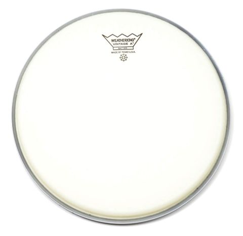 """Vintage A heads are suitable for snare and tom use and are available in 10"""", 12"""", 13"""", 14"""" and 16"""" sizes only."""