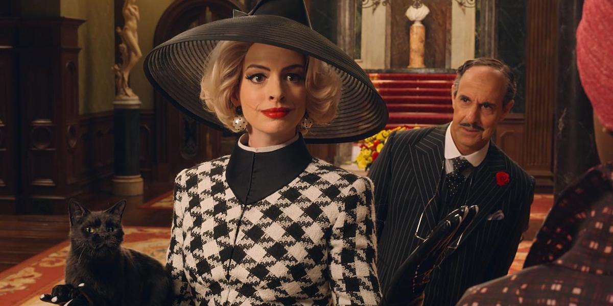 Anne Hathaway and Stanley Tucci in The Witches