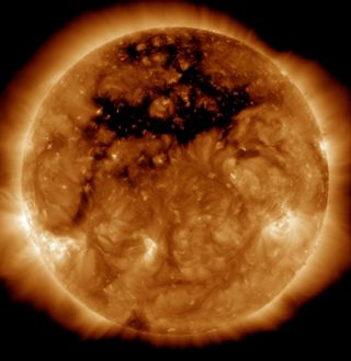 Coronal Hole on Oct. 10, 2015