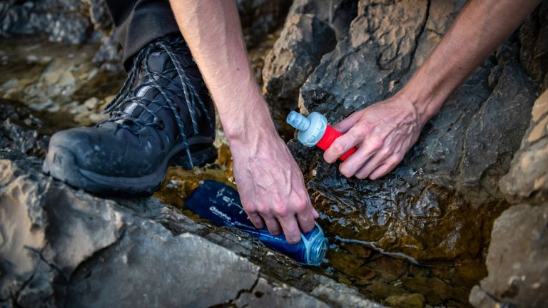 Lightweight camping gear: Salomon XA soft flask