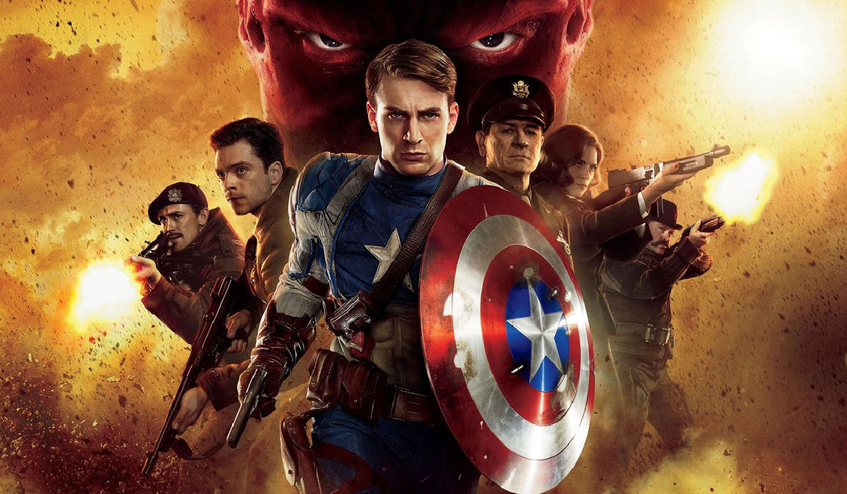 Captain America: The First Avenger Cap and his unit marching towards the screen