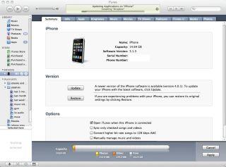 Rollback iPhone 3G