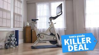 The MYX II exercise bike in a home setting