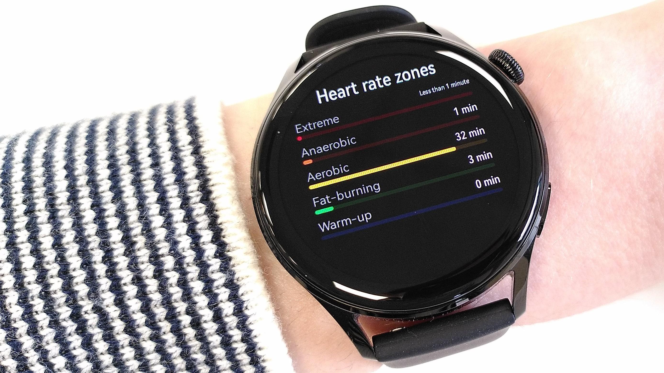 Huawei Watch 3 heart rate zone tracking