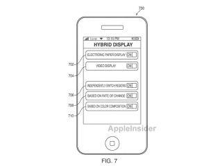 Apple patents new hybrid display tech to allow users to switch between e-ink and LCD