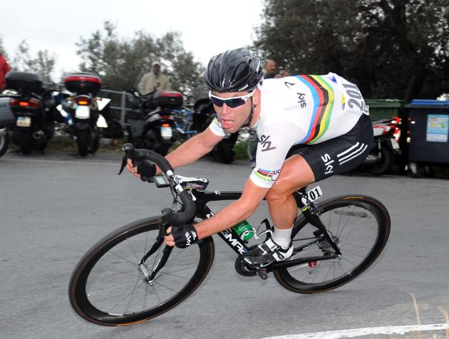 Mark Cavendish descends Manie, Milan-San Remo 2012
