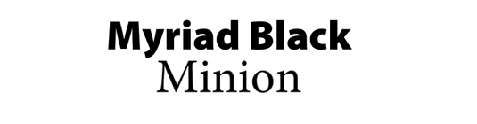 Font pairings: Myriad and Minion