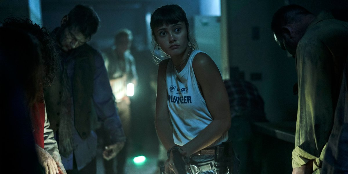 Ella Purnell looking slightly disturbed and confuse in Army of the Dead.
