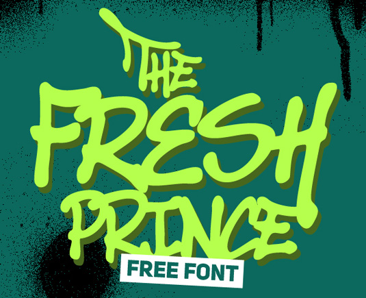 Free graffiti font: The Fresh Prince