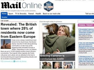 Daily Mail behind The Times