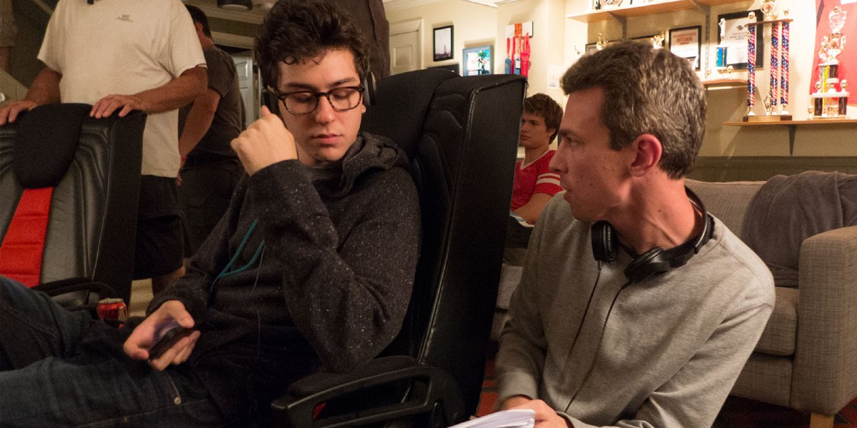 Josh Boone with Nat Wolff making The Fault In Our Stars