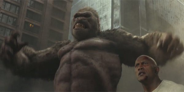 The New Rampage Trailer Lets Dwayne Johnson Team Up With The Giant Ape