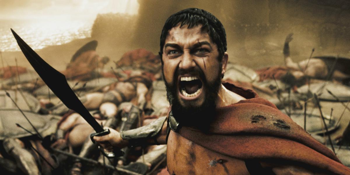 Gerard Butler as King Leonidas in 300