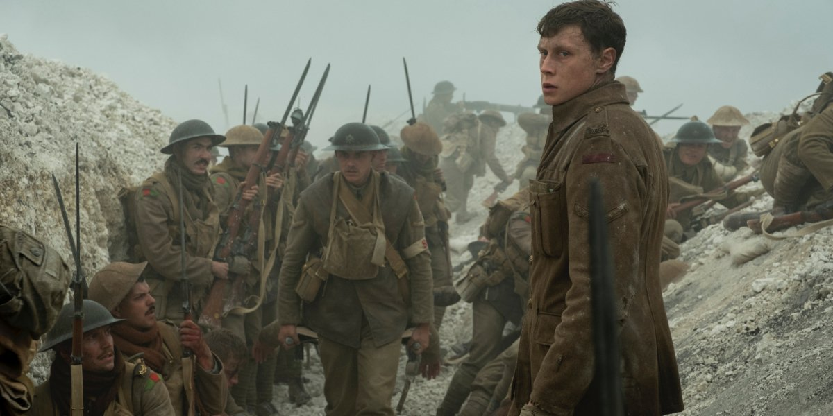 1917 George MacKay standing in the trenches
