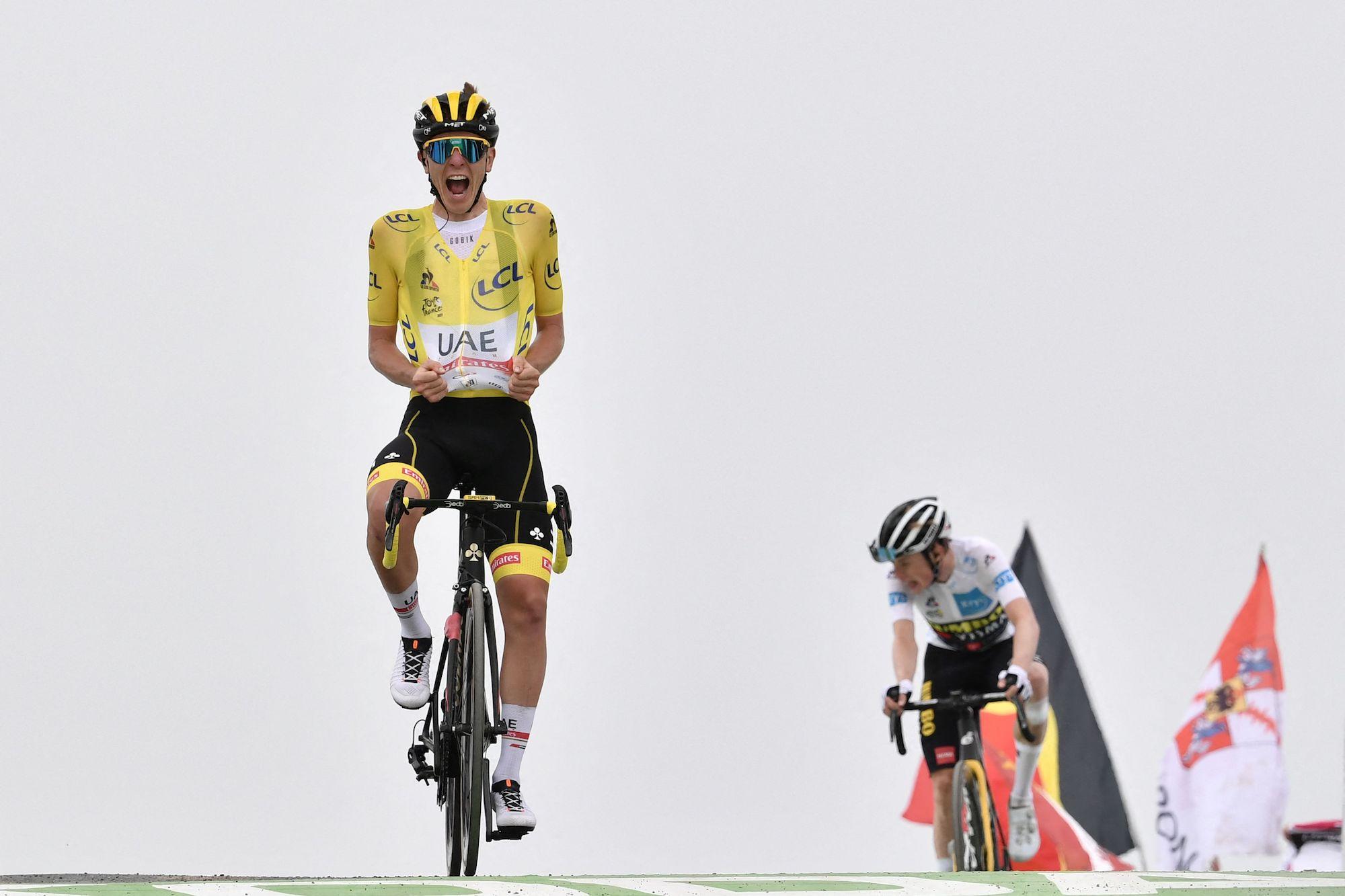 Tadej Pogacar wins stage 17 of the 2021 Tour de France