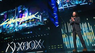 Keanue Reeves at the E3 2019 Xbox briefing