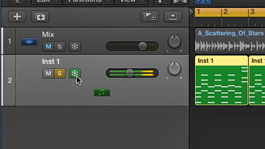how to freeze tracks in logic pro x musicradar. Black Bedroom Furniture Sets. Home Design Ideas