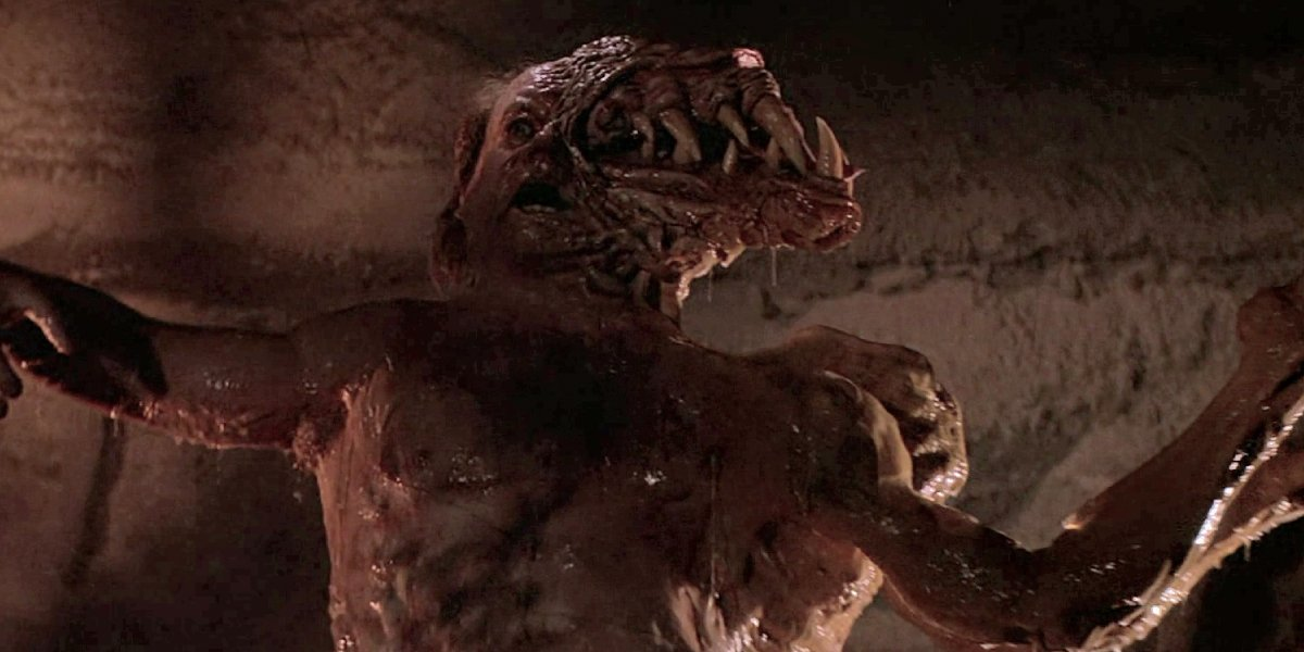 A transformed Wilford Brimley in The THing