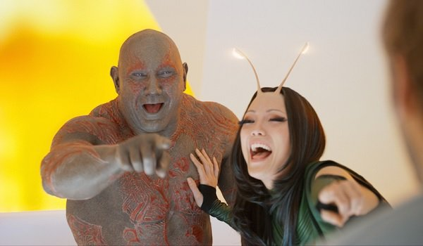 Guardians of the Galaxy Vol 2 Drax and Mantis Laughing
