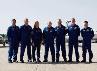 Shuttle Astronauts Prepare for Launch Practice
