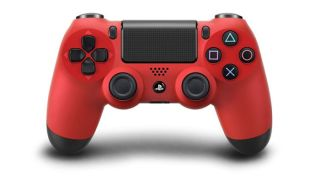 PS4 controller in red