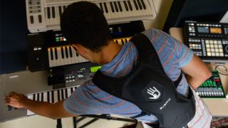 "SubPac's M2 'vest works ""by translating low frequencies into a full body experience."""