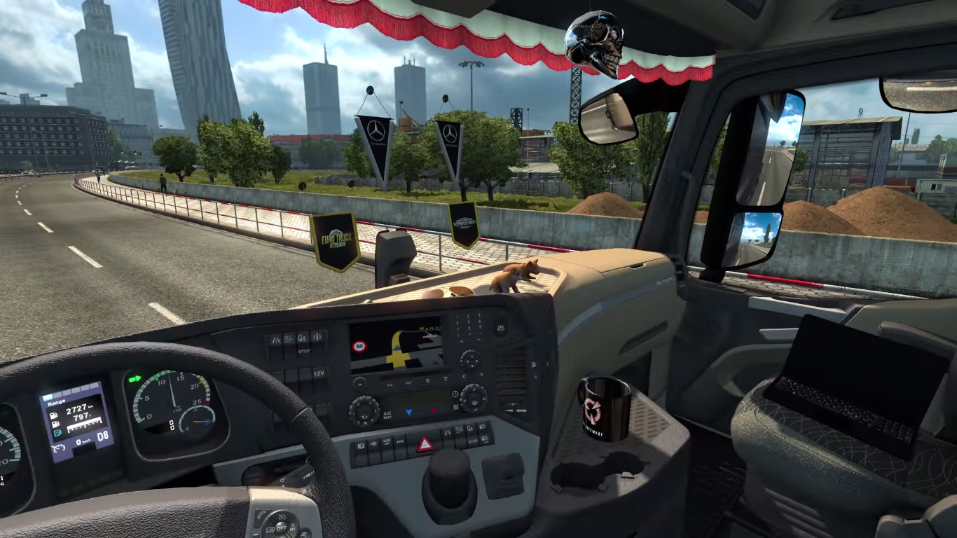 Pimp your dashboard with Euro Truck Simulator 2's Cabin