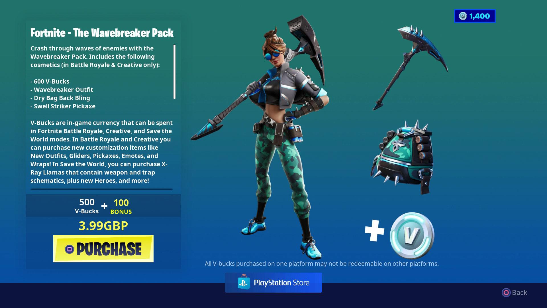 Fortnite Starter Pack The Wavebreaker Pack Is The Best Deal
