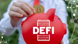 DeFi piggy bank with Bitcoin