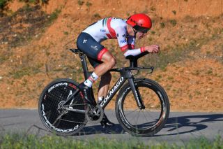 UAE Team Emirates' Rui Costa on the stage 5 time trial of the 2020 Volta ao Algarve