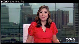 A screengrab of a CBSN Baltimore broadcast Aug. 23, 2021