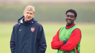 Kolo Toure and Arsene Wenger