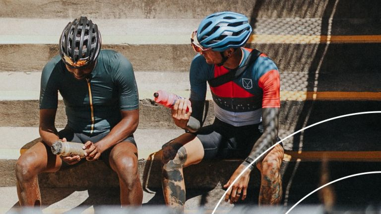 two cyclists after their ride