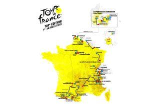 Tour de France 2022 map