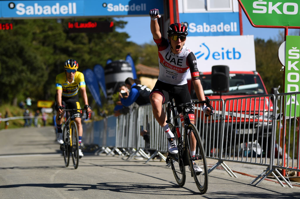 Tadej Pogacar (UAE Team Emirates) wins stage 3 of the 2021 Itzulia Basque Country