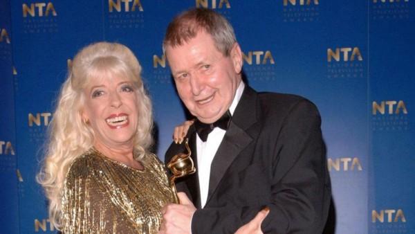 Tony Warren, creator of Coronation Street, with Julie Goodyear