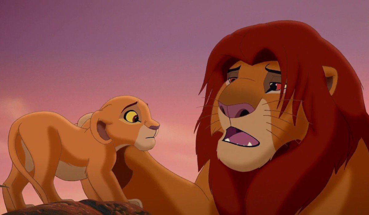 Simba and Kiara in Lion King 2