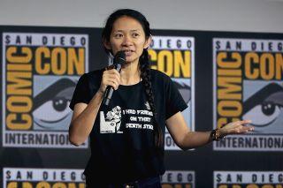 Director Chloe Zhao at San Diego Comic Con.
