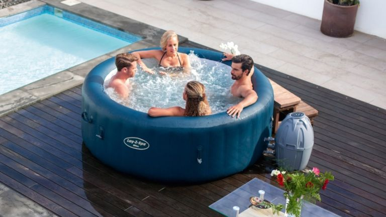 Lay Z Spa Milan Airjet Plus Review This Inflatable Hot Tub Is