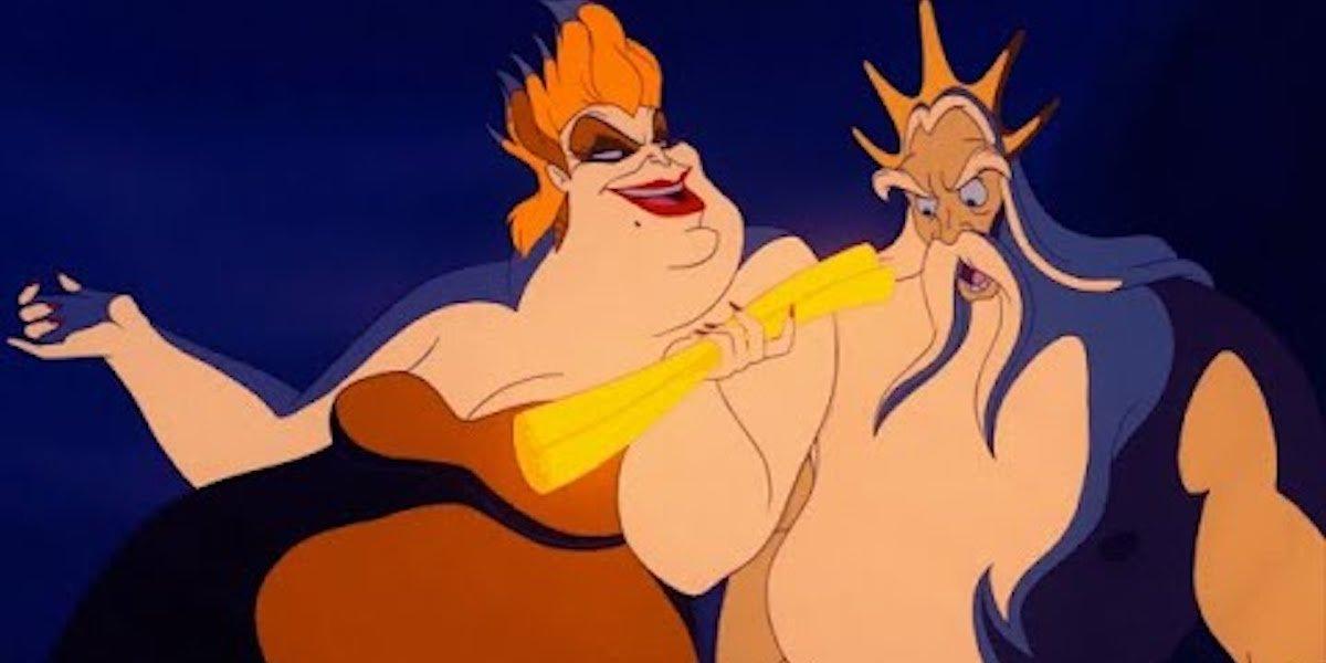 Ursula and Triton in The Little Mermaid